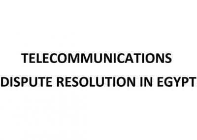 Telecommunications Dispute resolution